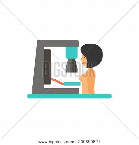 Icon of mammogram machine. X-ray, machine, scanning. Medical devices concept. Can be used for topics like womens health, diagnosis, medical examination