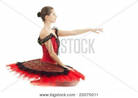 Graceful Classic Dancer With Red Tutu