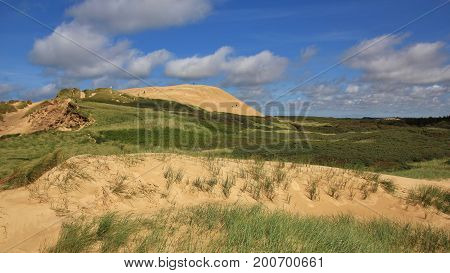Rubjerg Knude unique sand dune at the west coast of Denmark.