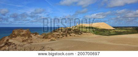 Rubjerg Knude. Unique sand dune at the west coast od Denmark.