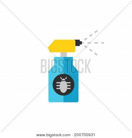 Icon of spray insecticide. Aerosol, bottle, airbrush, drop. Pest control concept. Can be used for topics like preventing insect, gardening, treatment for parasites