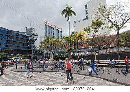SAN JOSE,COSTA RICA-MARCH 04, 2017: The Plaza Juan Mora Fernandez in San Jose, Costa Rica