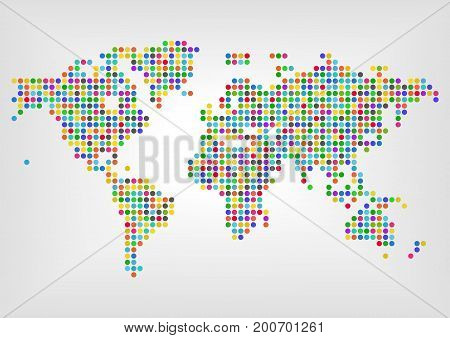 Colorful diversity around the world vector illustration