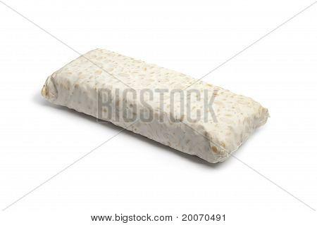 Piece of fresh tempeh