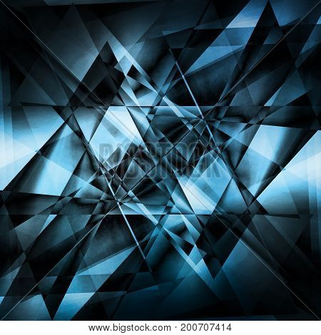 black and blue abstract light  facet background