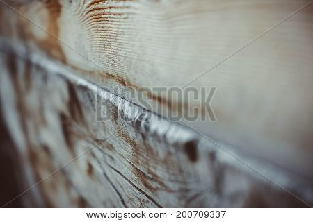 the sawed lumber from the yard photographed close-up
