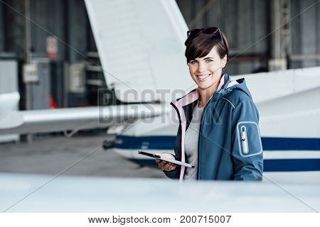 Pilot Using A Digital Tablet