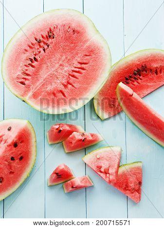 Watermelon On Wood