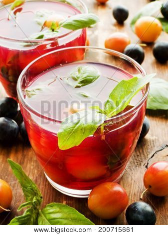 Blackthom And Cherry-plum Compote