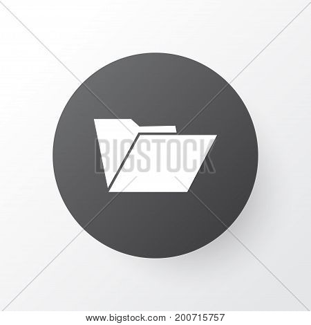 Premium Quality Isolated Dossier Element In Trendy Style.  Folder Icon Symbol.