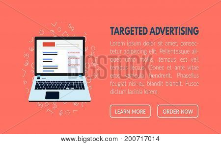 Targeted advertisement banner template for websites in vector EPS10