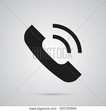 Vector Call  Element In Trendy Style.  Isolated Voice Icon Symbol On Clean Background.