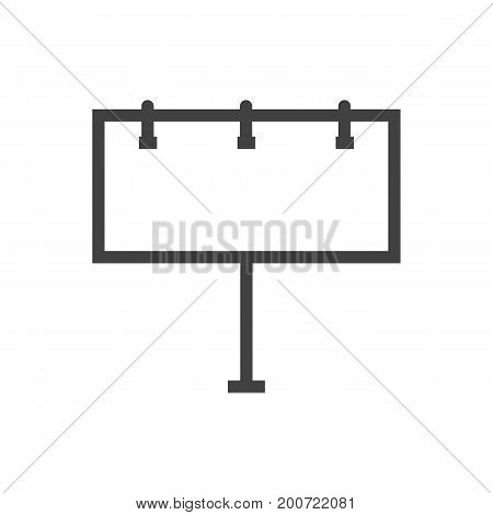 Vector Billboard Element In Trendy Style.  Isolated Placard Outline Symbol On Clean Background.