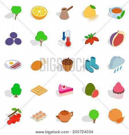 Establishment icons set. Isometric set of 25 establishment vector icons for web isolated on white background