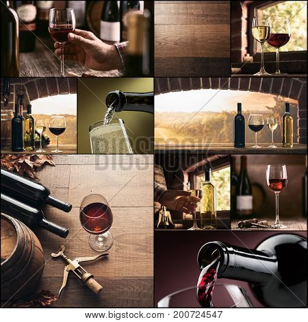Wine Culture And Winemaking Photo Collage