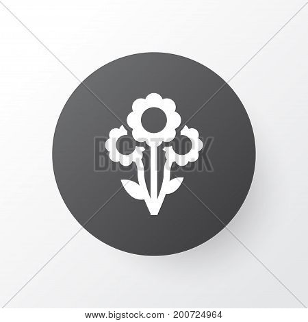 Premium Quality Isolated Flowers Element In Trendy Style.  Bouquet Icon Symbol.