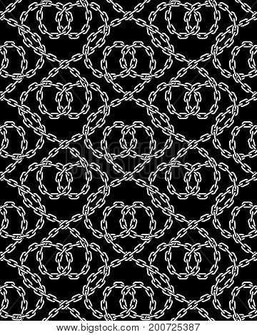 Vector Seamless Pattern Of Chains