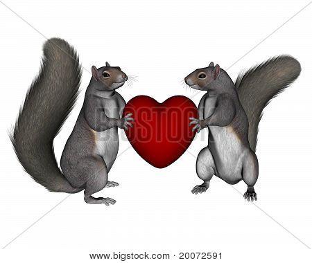 Valentine Squirrels