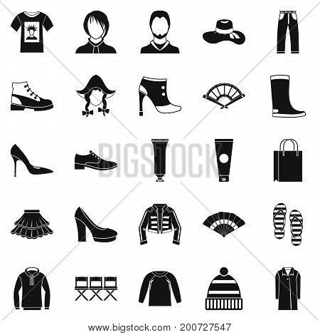 Shoe polish icons set. Simple set of 25 shoe polish vector icons for web isolated on white background