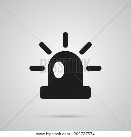 Isolated Flasher Siren Icon Symbol On Clean Background