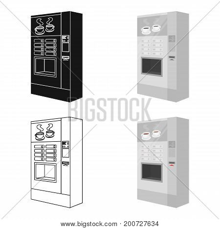 A machine for making coffee. Office equipment single icon in cartoon style Isometric vector symbol stock illustration .