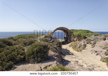 View of the landscape of the West Sardinia