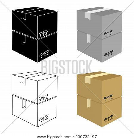 Packaged boxes with goods. Logistics delivery single icon in cartoon style isometric vector symbol stock illustration .