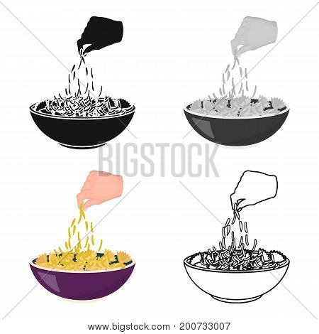 Preparation of food from pasta. Food single icon in cartoon style vector symbol stock illustration .