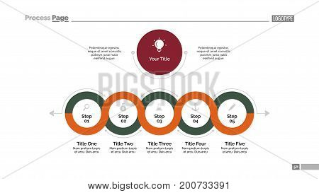 Circle infinite process chart template. Element of presentation, diagram. Concept for infographic, business templates, marketing, report. Can be used for topics like business, strategic planning