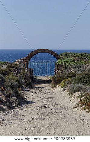 View of the dunes of the West Sardinia