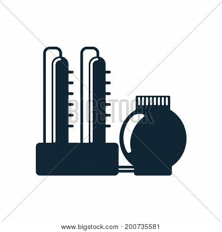 vector oil refinery simple flat icon pictogram isolated on a white background. Gas oil fuel, energy power petroleum industry symbol, sign