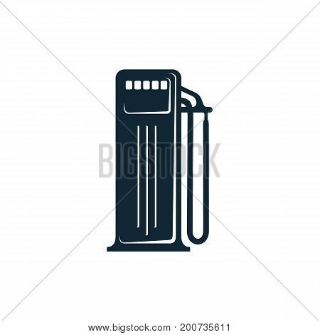 vector oil fueling station simple flat icon pictogram isolated on a white background. Gas oil fuel, energy power industry symbol, sign