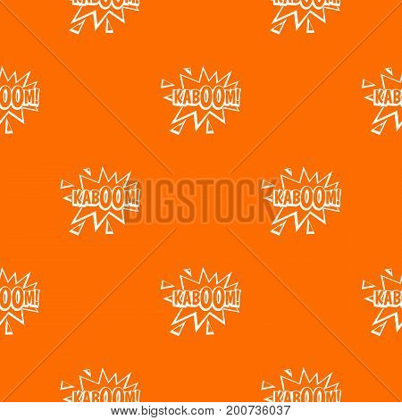 Kaboom, explosion pattern repeat seamless in orange color for any design. Vector geometric illustration