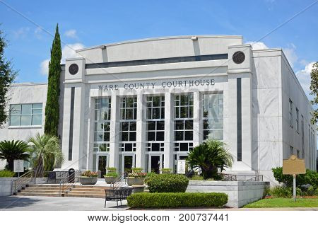 County Court House in Ware County Georgia