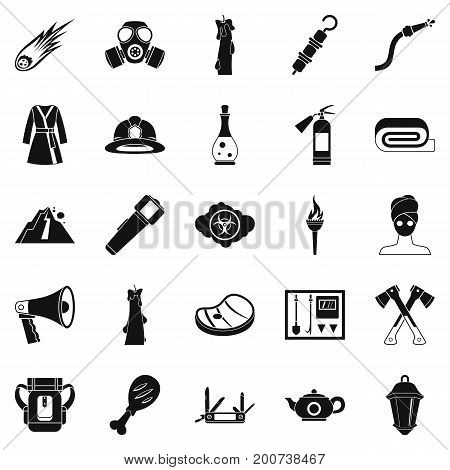Tan icons set. Simple set of 25 tan vector icons for web isolated on white background