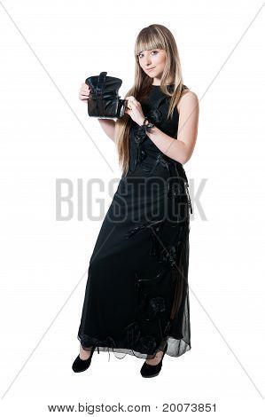 The Beautiful Girl In Black Dress