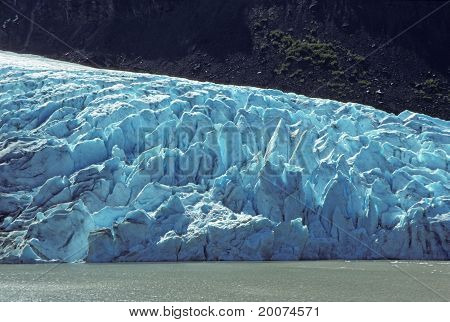 Glacial Ice In The Mountains