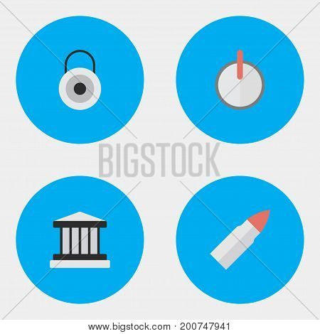 Elements Safe, Lock, Grille And Other Synonyms Lock, Password And Bullet.  Vector Illustration Set Of Simple Offense Icons.