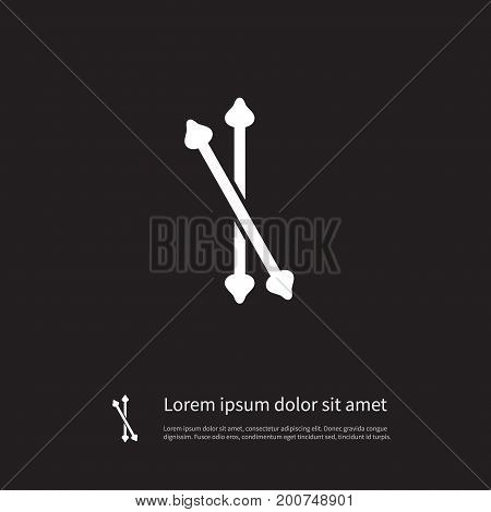 Swab Vector Element Can Be Used For Swab, Stick, Buds Design Concept.  Isolated Stick Icon.