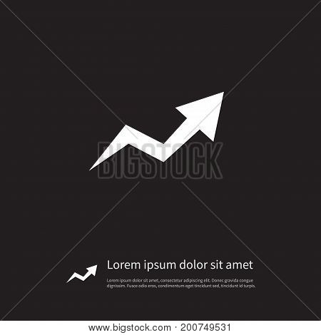 Increase Vector Element Can Be Used For Arrow, Increase, Growth Design Concept.  Isolated Arrow Up Icon.