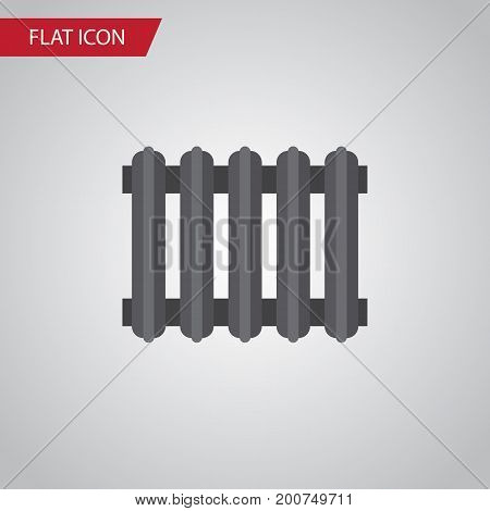 Heater Vector Element Can Be Used For Radiator, Heater, Thermostat Design Concept.  Isolated Radiator Flat Icon.