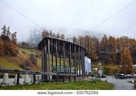 Car Parking Of Skiparadise Nauders In Bolzano Or Bozen, Italy