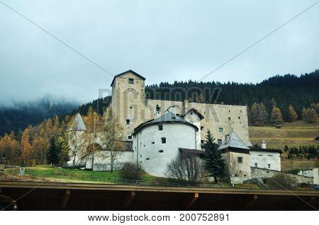 Castle In Countryside In Trentino-alto Valley In Bolzano, Italy