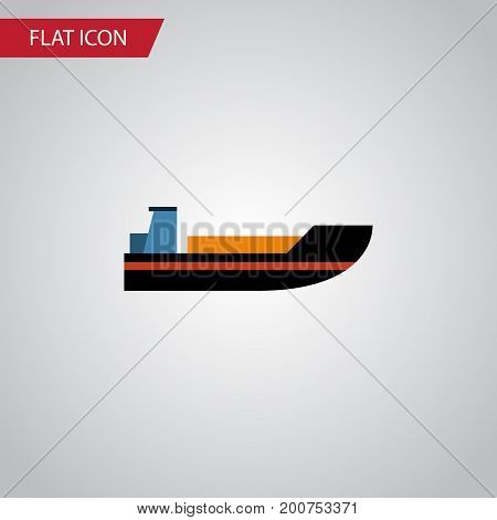 Boat Vector Element Can Be Used For Ship, Boat, Transport Design Concept.  Isolated Ship Flat Icon.