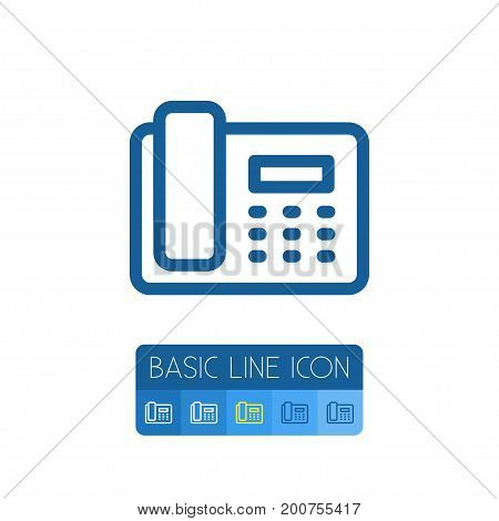 Dial Vector Element Can Be Used For Call, Phone, Dial Design Concept.  Isolated Call Outline.