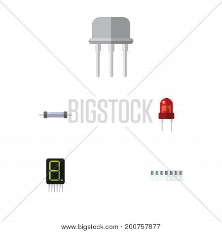 Flat Icon Appliance Set Of Recipient, Memory, Calculate And Other Vector Objects