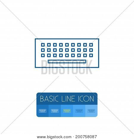 Keypad Vector Element Can Be Used For Keypad, Keyboard, Computer Design Concept.  Isolated Keyboard Outline.