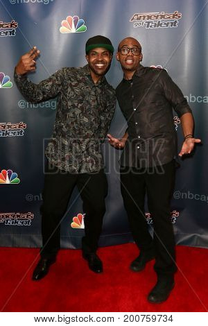 NEW YORK-SEP 9: The CraigLewis Band attends the America's Got Talent Season 10 Semi-finals taping at Radio City Music Hall on on September 9, 2015 in New York City.