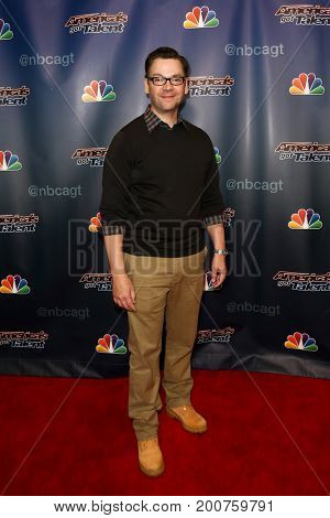 NEW YORK-SEP 9: Magician Derek Hughes attends the America's Got Talent Season 10 Semi-finals taping at Radio City Music Hall on on September 9, 2015 in New York City.