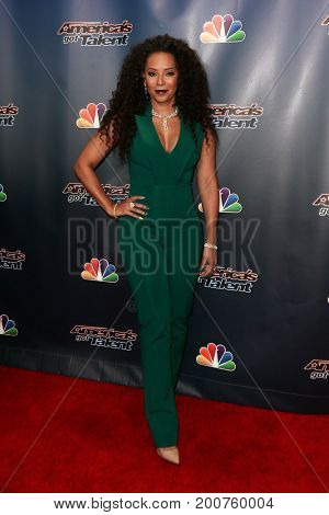 NEW YORK-SEP 9: Singer Mel B. attends the America's Got Talent Season 10 Semi-finals taping at Radio City Music Hall on on September 9, 2015 in New York City.